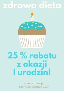 zdrowa dieta rabat urodzinowy
